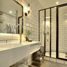 Urban Bathroom With Subway Tiles
