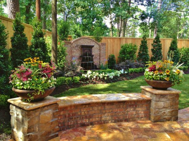 Enclosed Garden With Low Brick Wall