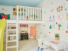 Multicolored Playroom With Slide