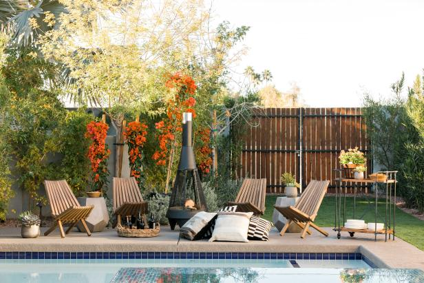 HGTV Spring House 2017: Poolside patio has industrial, modern elements