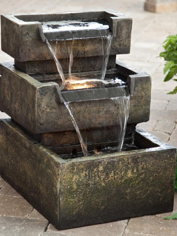 Tiered Recirculating Water Fountain