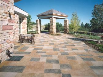Colorful Stained Concrete Patio