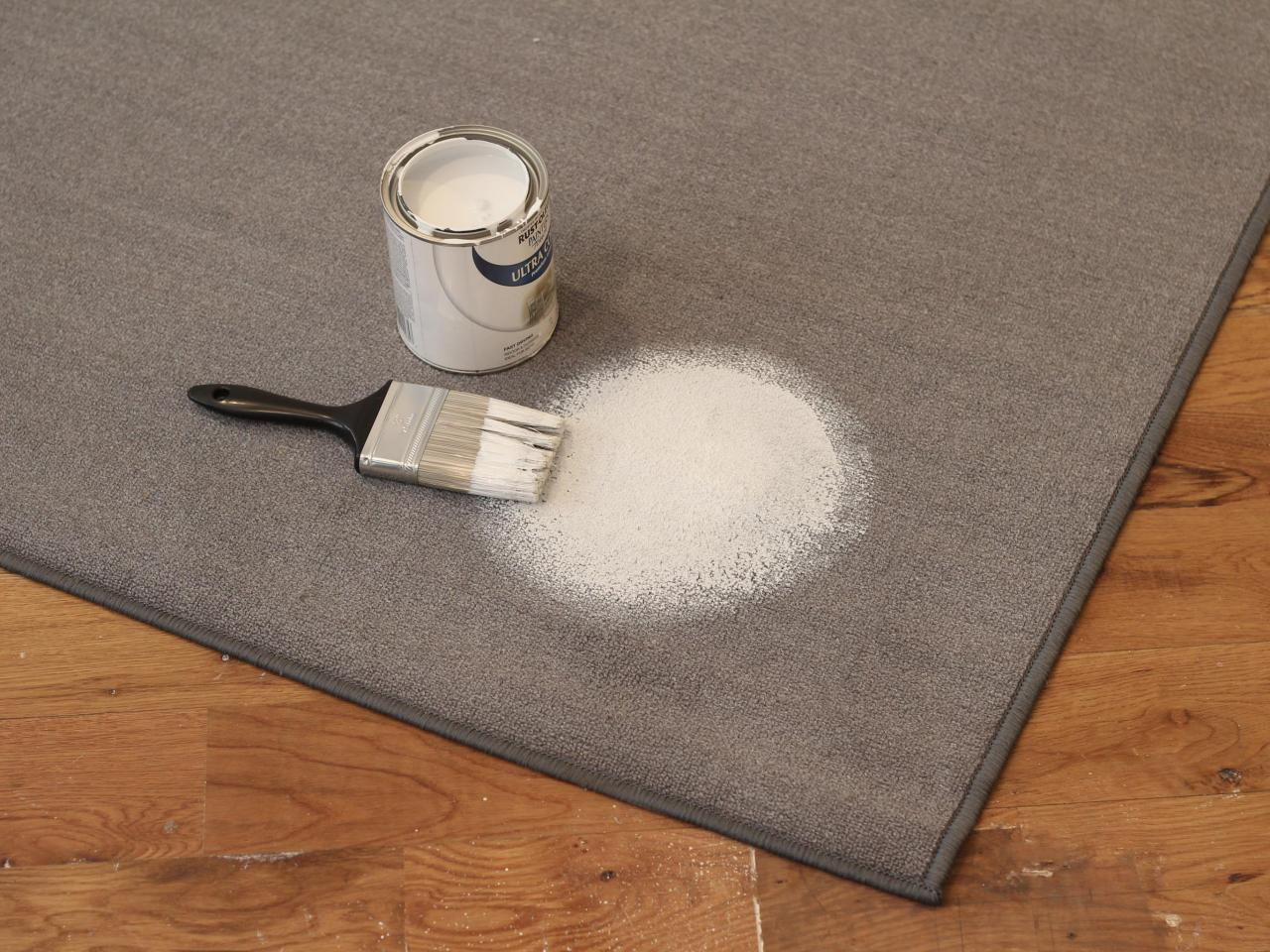 How To Add Painted Dots An Outdoor Rug Paint White