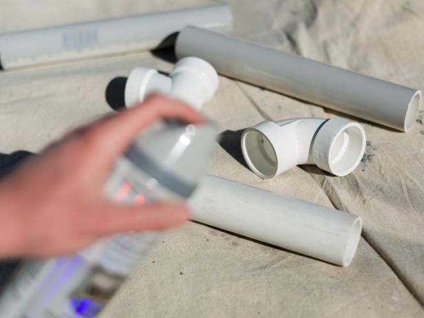 DIY PVC Pipe Privacy Screen: Paint PVC Pipe
