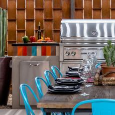Contemporary Southwestern Outdoor Kitchen