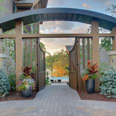 Entry Gate to Lakeside Patio and Pool