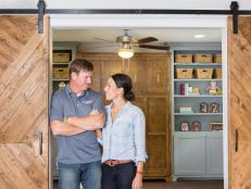 """Skinnylap"" makes a guest appearance as Chip and Joanna help a couple returning to Waco, Texas create a stylish home on a tight budget."