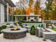 Contemporary Outdoor Living Space is Welcoming, Cozy
