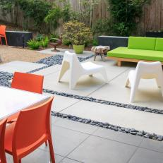 Bright Colors and Mixed Textures Add Life to Backyard Oasis