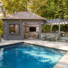 Pool With Covered Patio and Pergola
