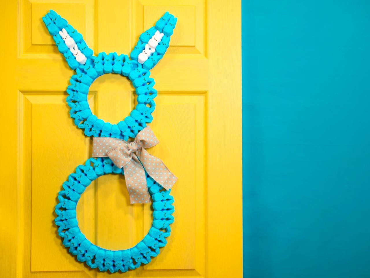 How To Make A Marshmallow Bunny Wreath Hgtv