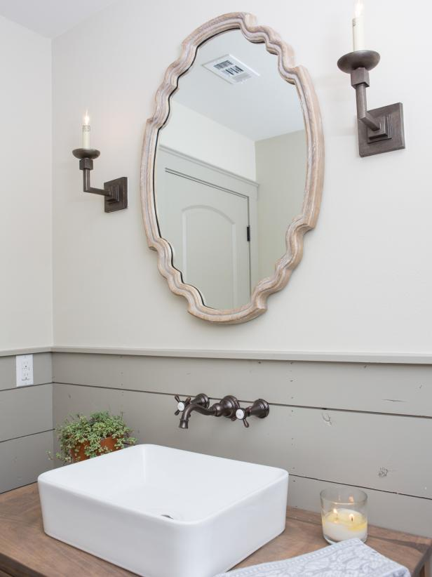 Neutral Bathroom with White Vessel Sink