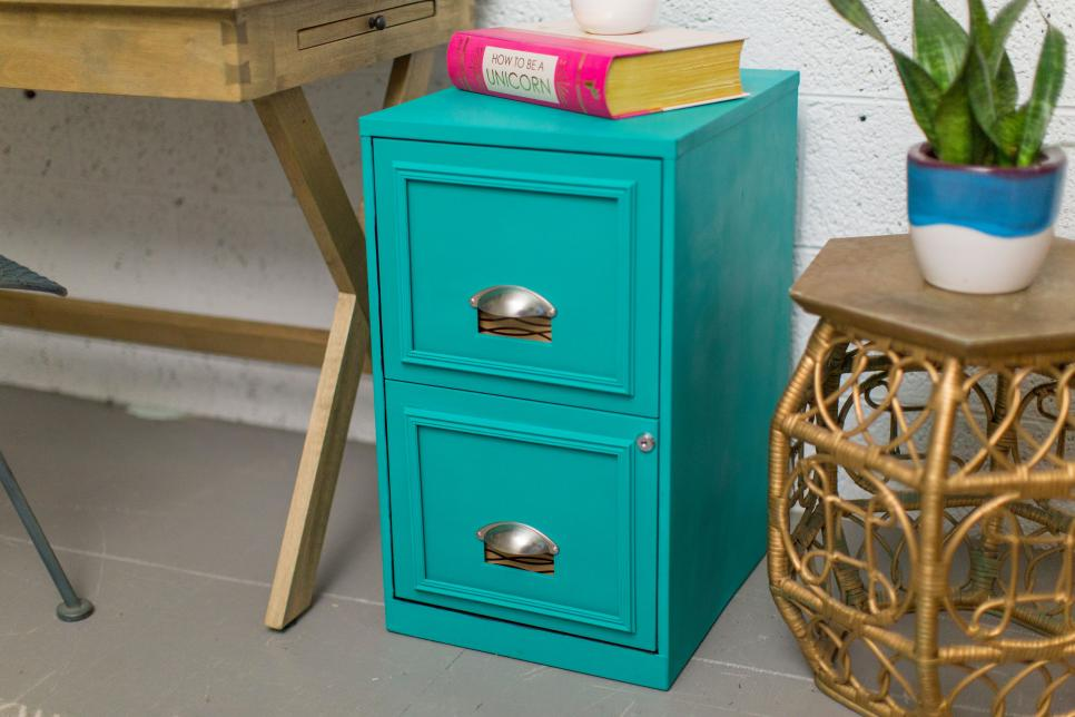 Beauty of Turquoise Filing Cabinet