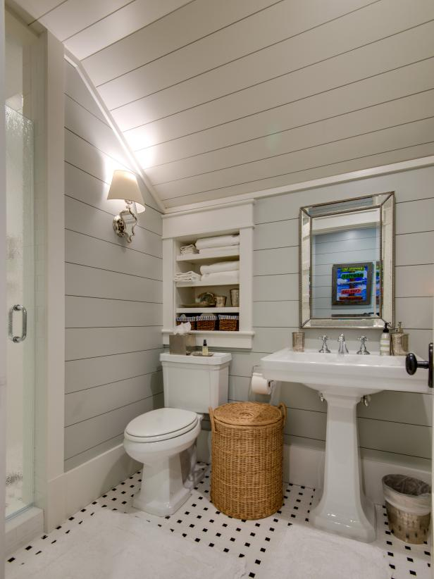 Shiplap bathroom ceiling bathroom design ideas Shiplap tray ceiling
