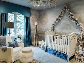 Stylish Baby Boy's Nursery With Teal Accents