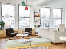 Neutral Color Palette Highlights Loft's View of New York