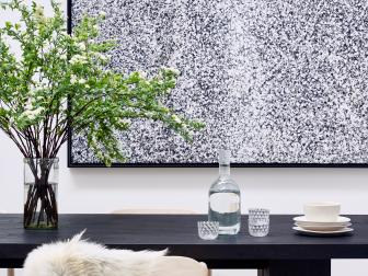 Textured Artwork Adds Texture to Dining Room