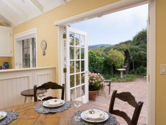 Eat-In Kitchen with French Doors to Bring Cottage Garden Indoors