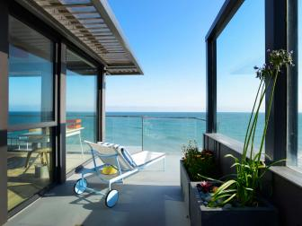 Modern Patio of Malibu Beach House