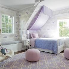 Eclectic Girl's Bedroom is Playful, Serene