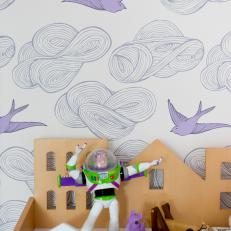 Playful Girl's Bedroom With Dream-Like Wallpaper