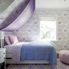 Whimsical Girl's Bedroom in Lilac
