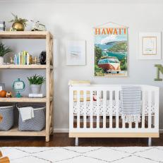 Neutral Transitional Nursery With Owl Hamper