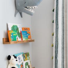 Floating Bookshelves in Nursery