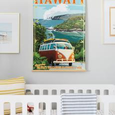 Hawaii Vintage Art and Crib