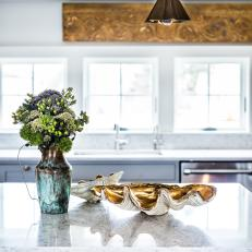 Rustic Kitchen Island With Touches of Glam