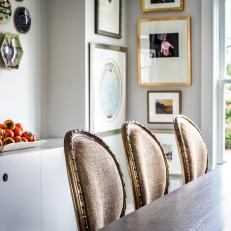 Transitional Dining Room is Welcoming, Light