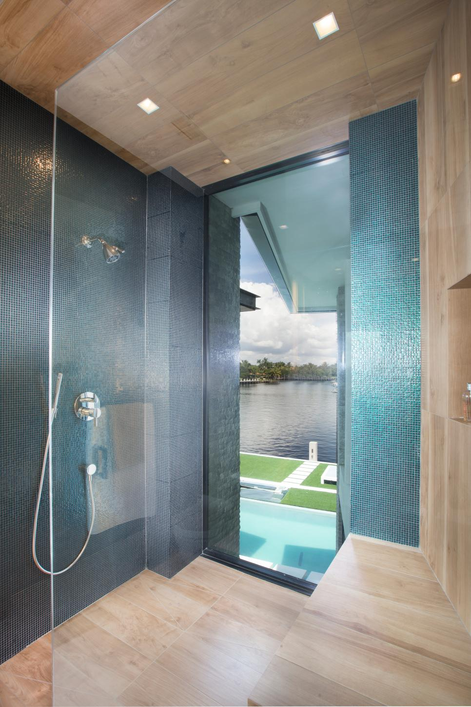 contemporary master bathroom with glass stall shower  hgtv
