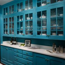 Teal Kitchen Cabinets Create Bold Design