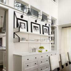 Photographs Are Showcased in Neutral Dining Room