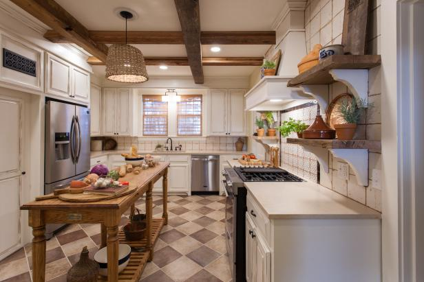 Neutral Kitchen with Custom Made Basket-Light