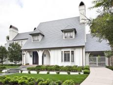 Timeless, Inviting Exterior With Tudor Revival Features