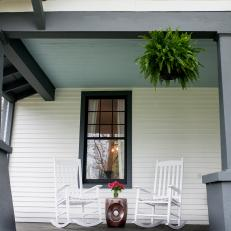 Locally Sourced, Vintage Furniture Preserves Porch's Southern Charm