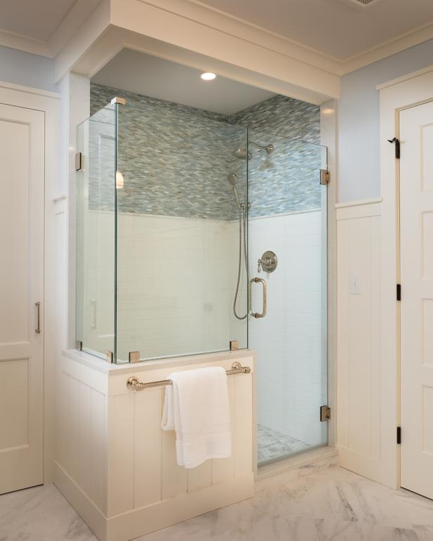 Master Bathroom with Stylish, Single Stall Shower