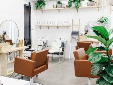 Frosted Glass Surrounds Bohemian Salon, Letting in Natural Light