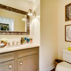 Photos HGTV - Gold bathroom sconces