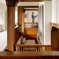 Grand Staircase with Wood Molding