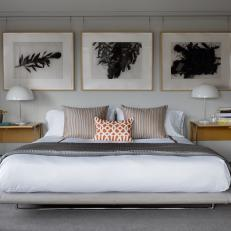 Modern Bedroom with Art Display