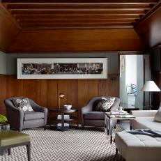 Wood-Toned Contemporary Sitting Room