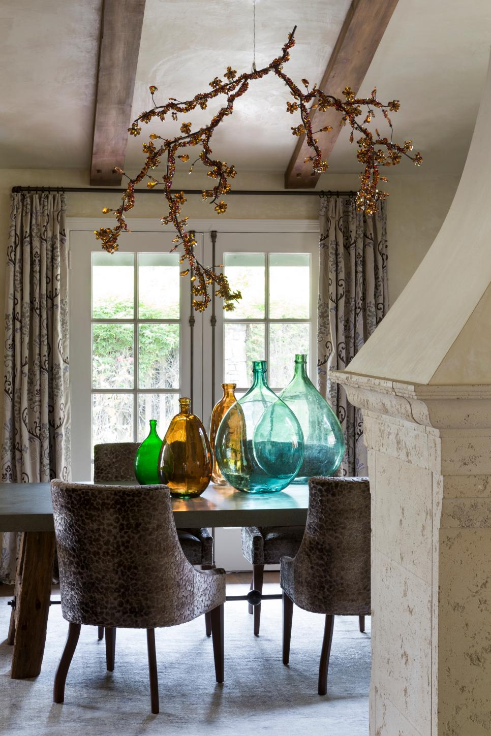 Dining Room With Glass Bottles