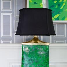Green and Black Table Lamp