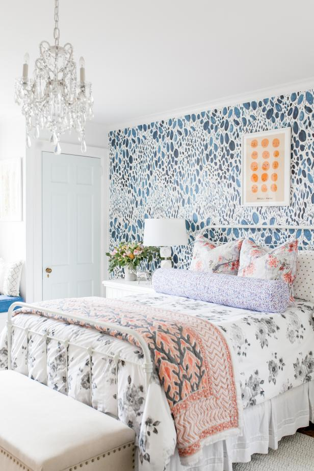 Unique Girl's Room with Mix of Color, Texture and Style