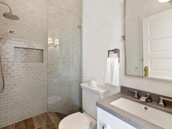 Neutral Bathroom With Glass Shower