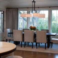 Dining Room with Timeless Chandelier