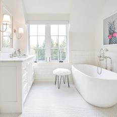 Clean White, Contemporary Kids' Bathroom