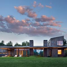 Modern Ranch Home and Sky